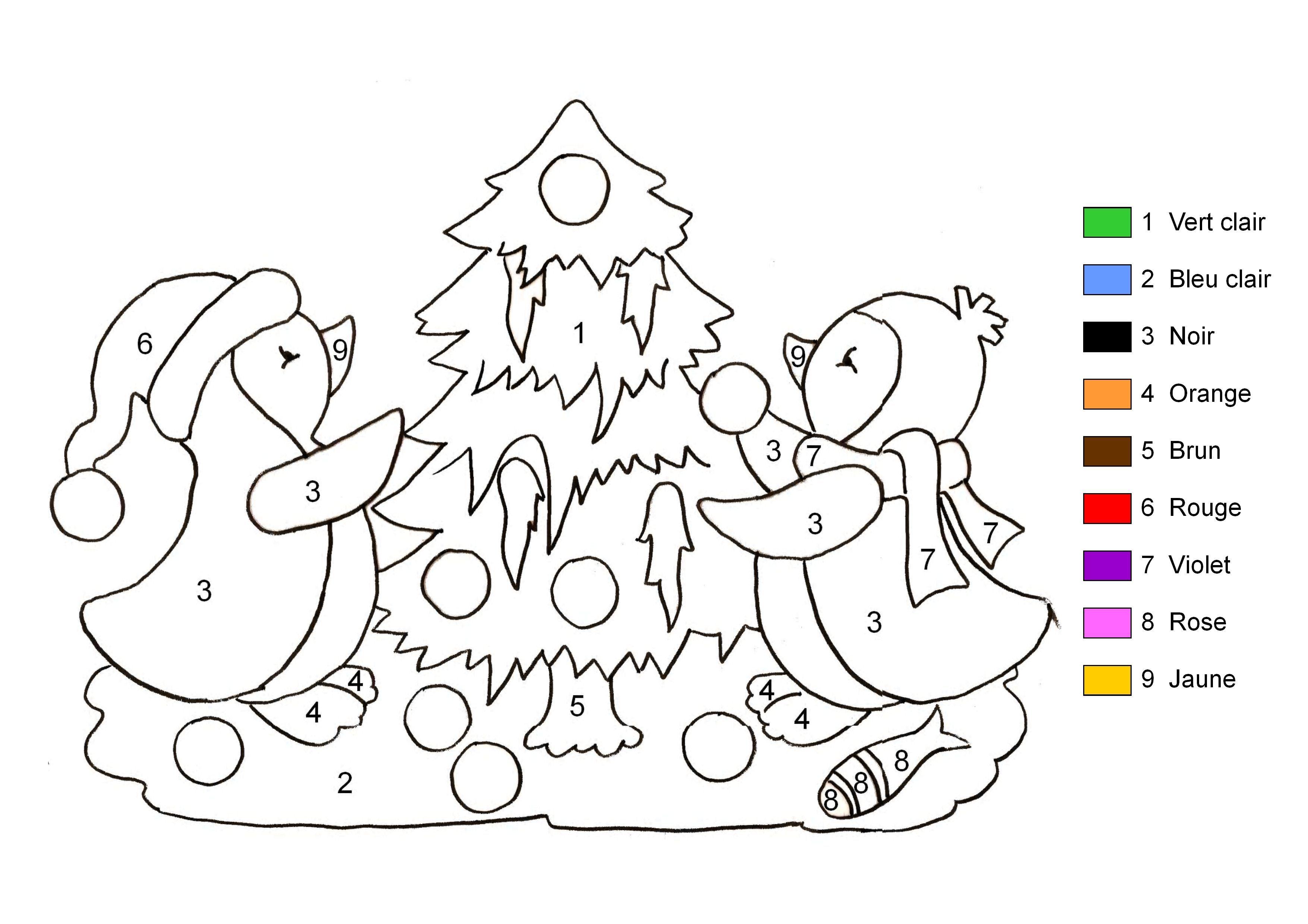 Imprimer coloriage noel coloriage coloriage noel coloriage magique noel et coloriage magique - Coloriage magique de noel a imprimer ...