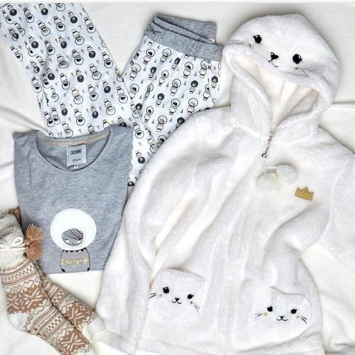 Soft winter pajamas for girls