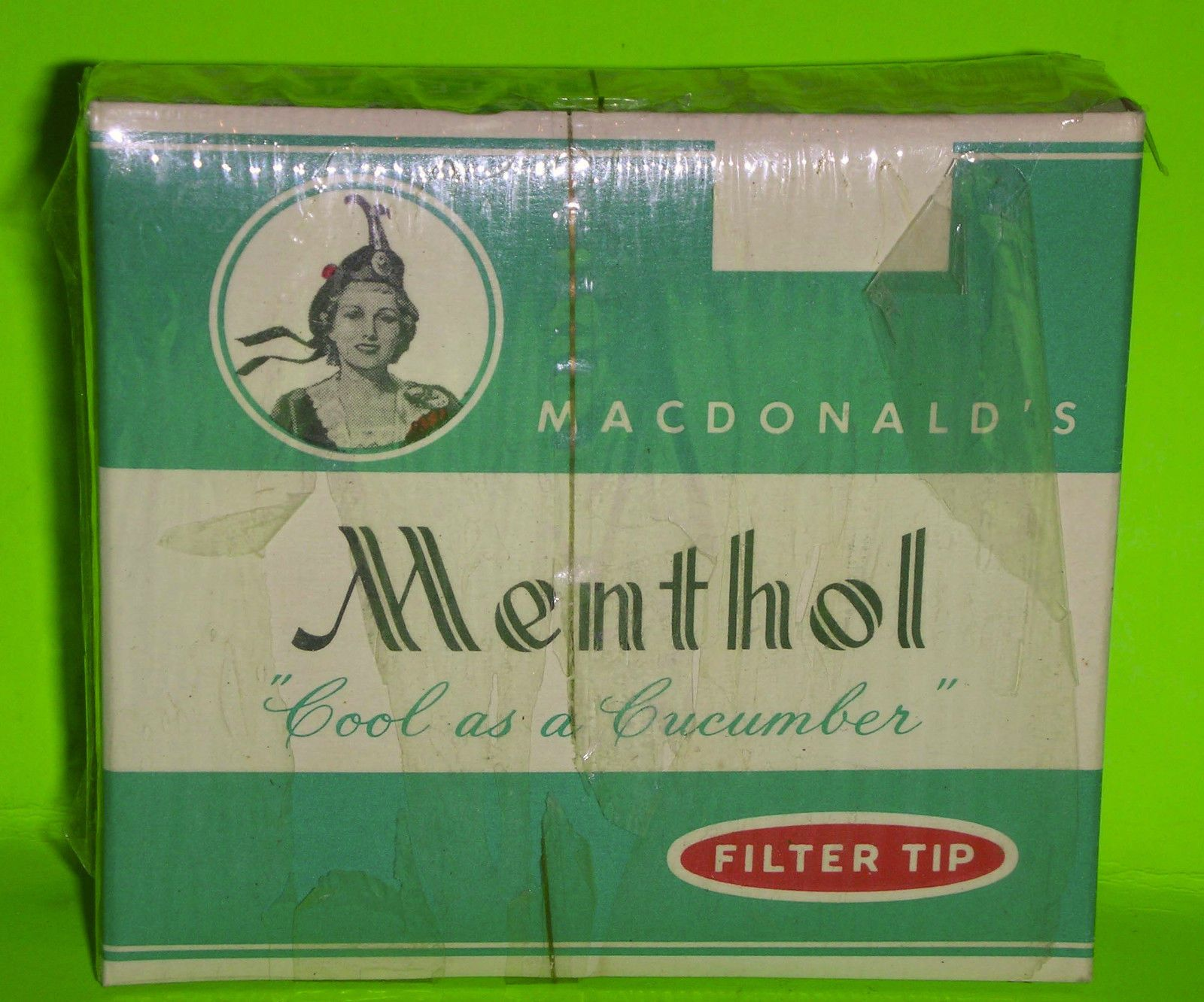 "Vintage Dummy cigarette pack, ""Menthol"", Macdonald Tobacco, Montreal, Canada | eBay"