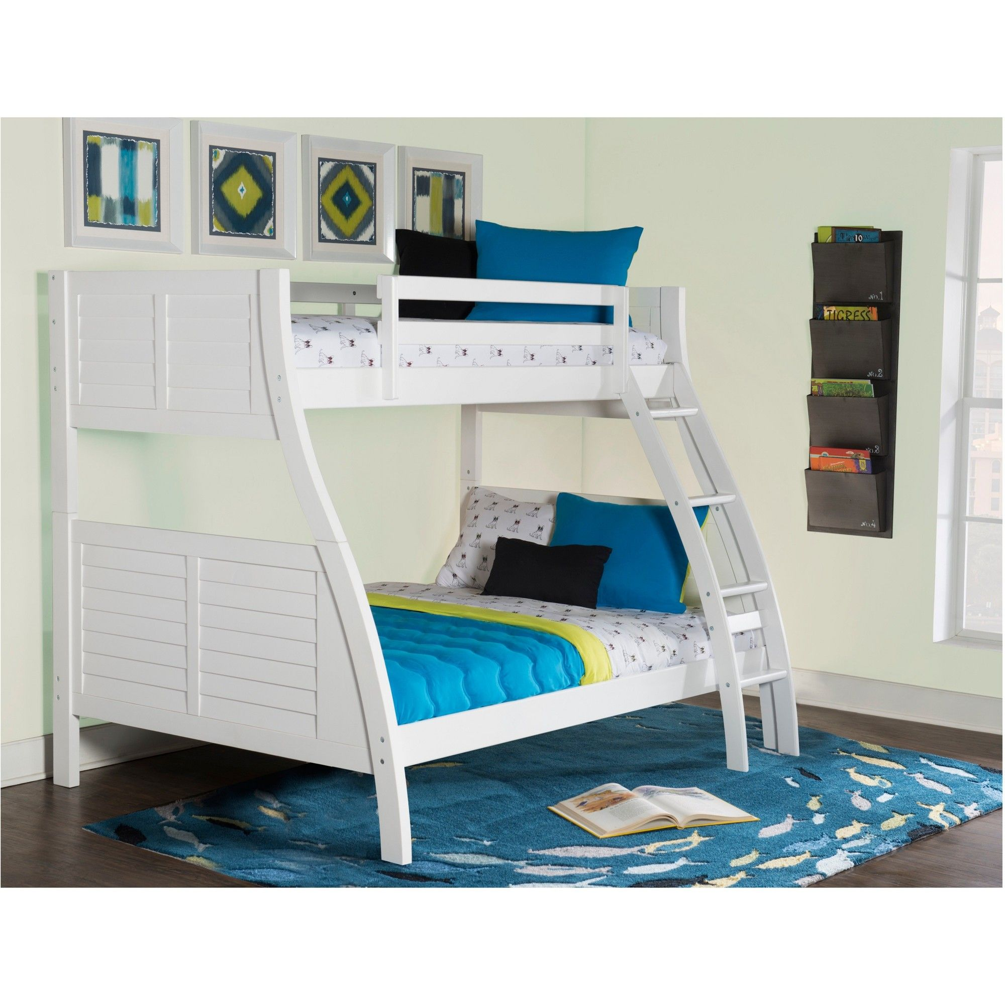 Twin Over Full Jayden Bunk Bed White Powell Company Size Full