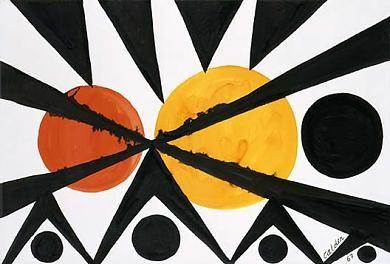 Across The Orange Moons 1967 Alexander Calder Opaque