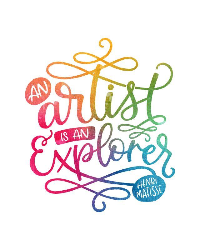 Printable Art, An Artist is an Explorer, Henri Matisse