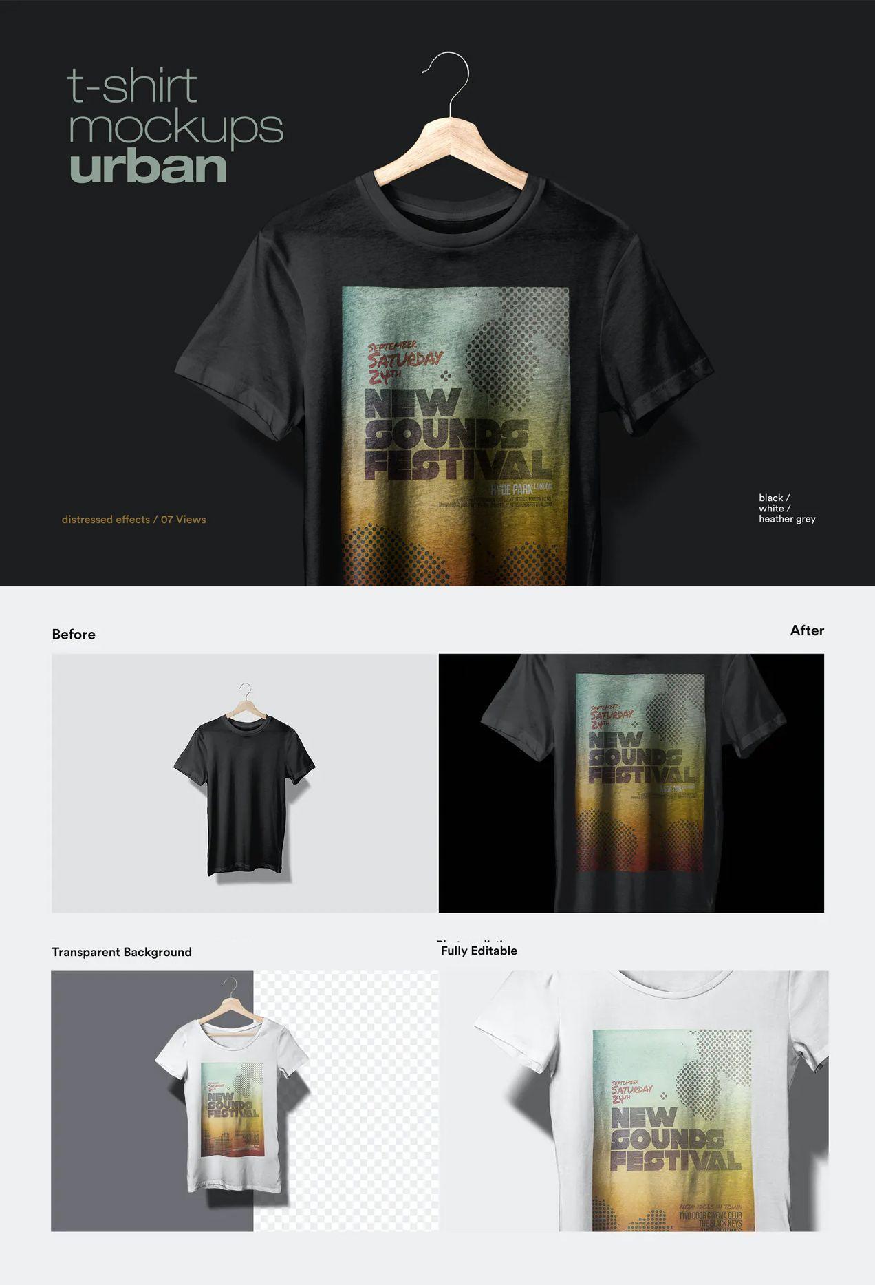Download T Shirt Mockup Urban Shirt Mockup Tshirt Mockup Shirts