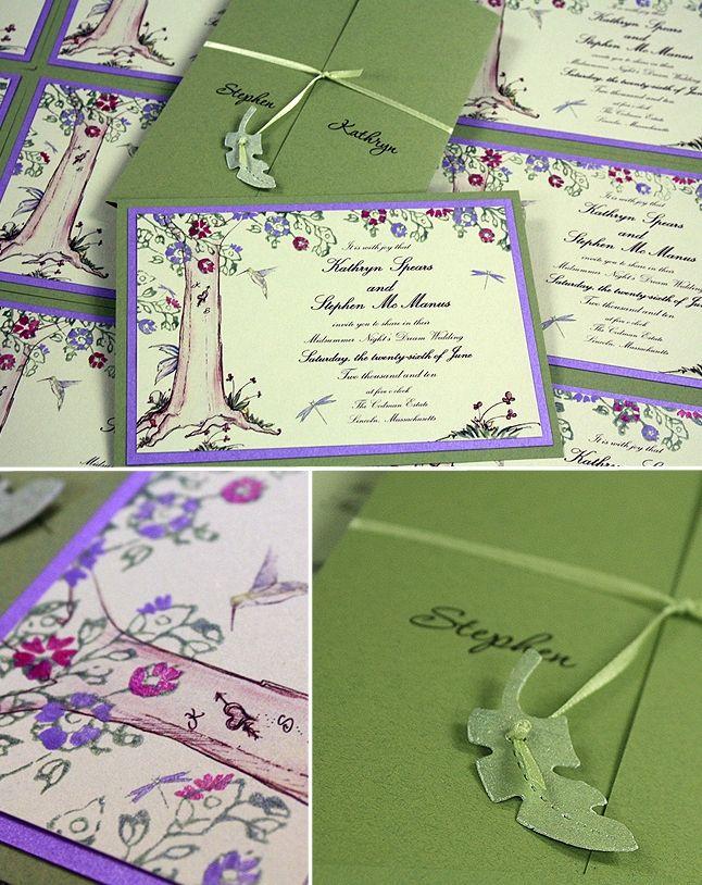 Purple and Green Wedding, A Midsummer Night\'s Tree Wedding ...