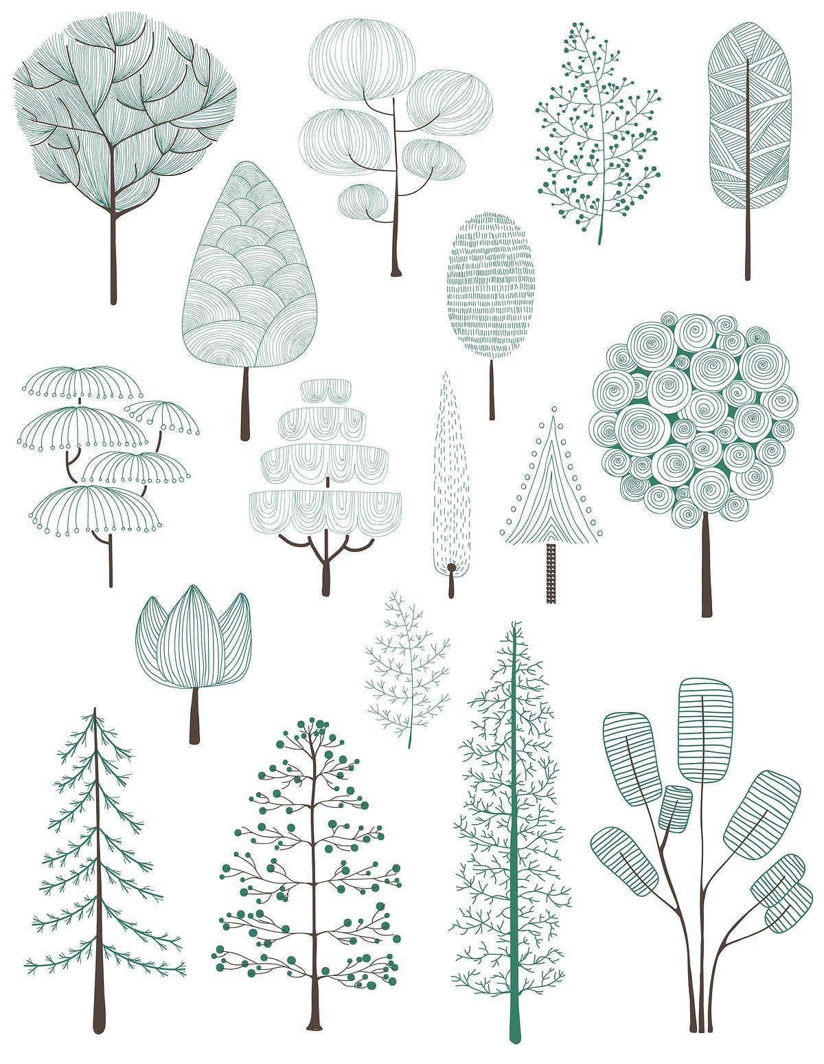 Latest Download premium vector of Illustration of pine trees ...