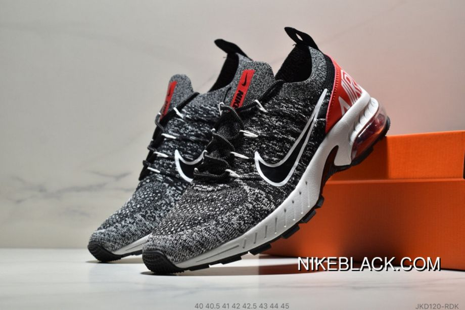 f6b811e77c68 Nike Air Max Flyknit JKD120-RDK Mens Running Shoes Casual Sneakers Oreo Red  Top Deals