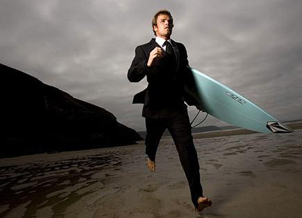 Business Suits aren't Wetsuits #Business Surfer