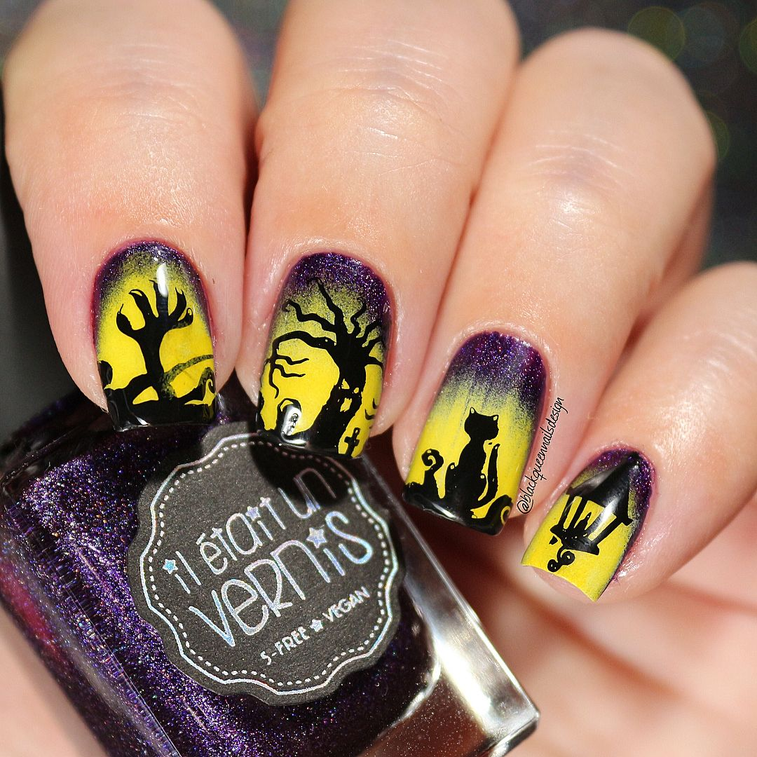 Lovely and magic stamping nail art design review from