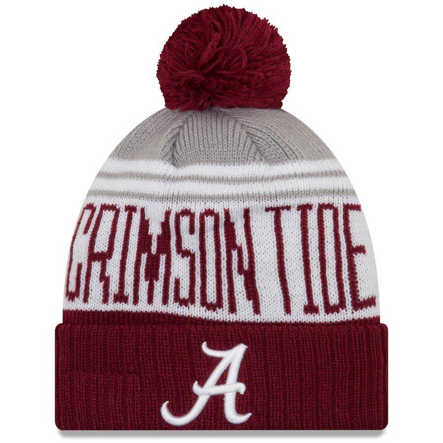 e2e9f5dddb4 Alabama Crimson Tide New Era Team Pride Cuffed Knit Hat with Pom - Crimson