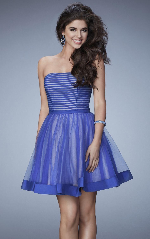 La Femme 23354 | VESTIDOS AZULES | Pinterest | Vestidos azules, Azul ...