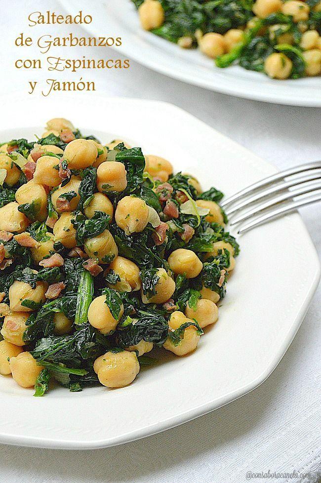 Recetas De Cocina Con Garbanzos | Con Sabor A Canela Salteado De Garbanzos Con Espinacas Y Jamon