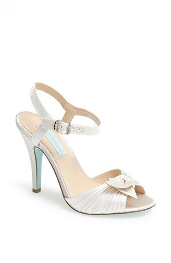 Blue By Betsey Johnson Party Satin Sandal Blue By Betsey