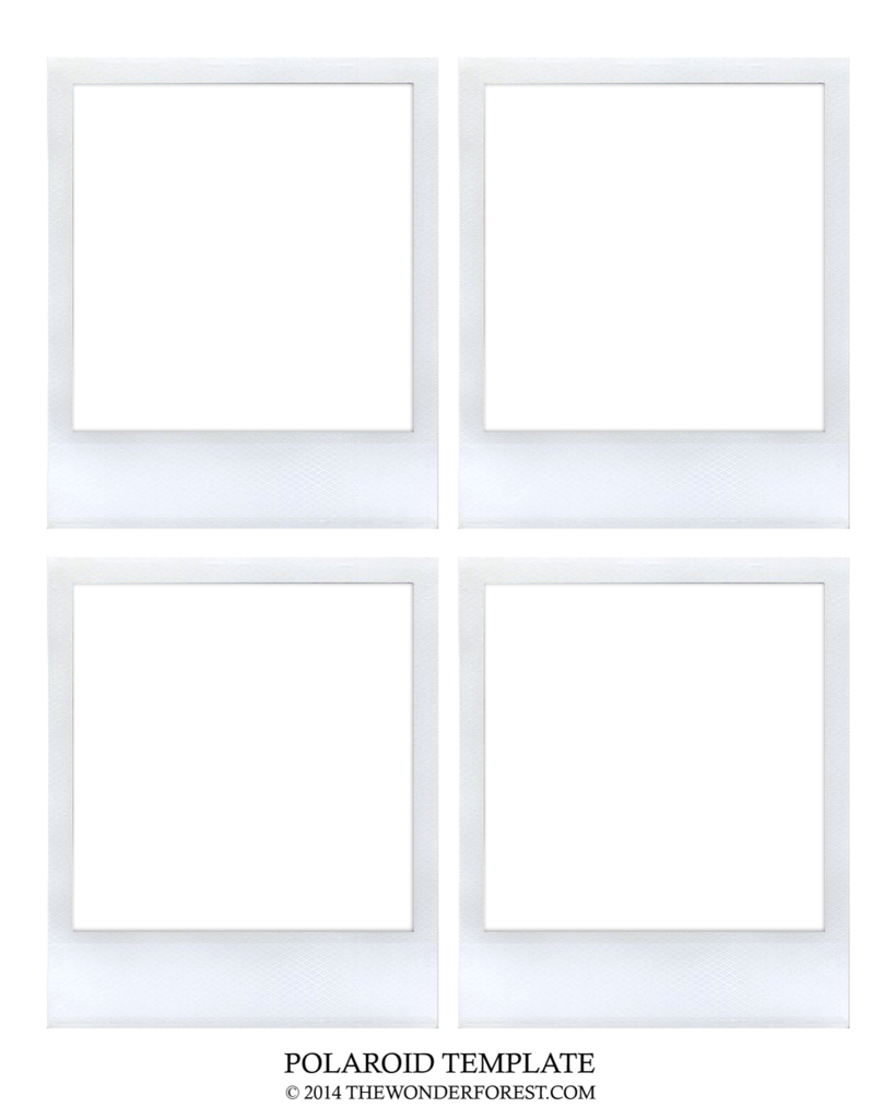 Wonderforest Polaroid Template Png Box Polaroid Frame Polaroid Diy Polaroid Template