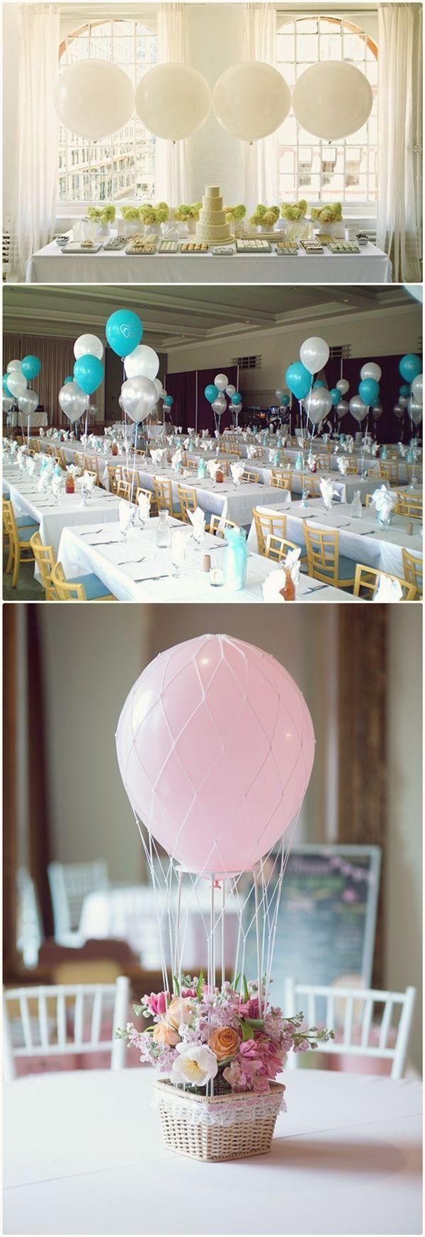 Wedding decoration ideas balloons  Unique Centerpieces For Weddings Colourfull Balloon  visit