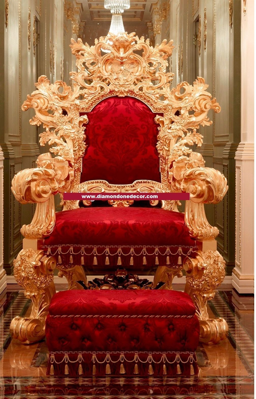 Amazing Baroque French Reprorduction Louis XVI Rococo Throne Wedding Chair