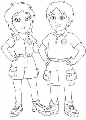Go diego go coloring page 8 | Kids coloring book | Pinterest