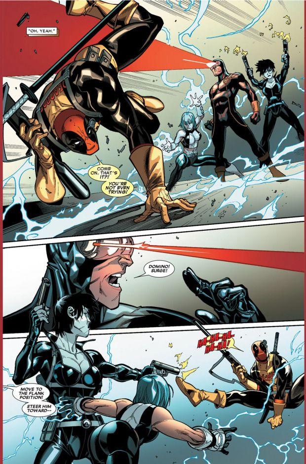 Deadpool Vs The X Men Deadpool Marvel Comics Art Cyclops Marvel