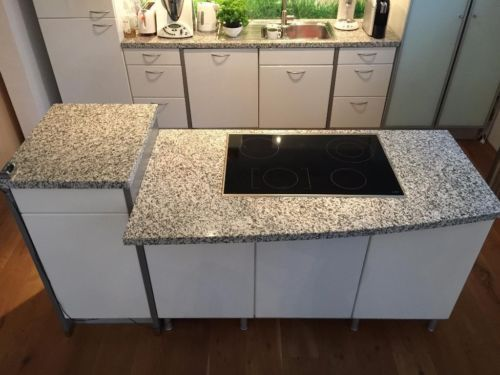 Wir verkaufen unsere moderne, weiße Hochglanz - Kücheninsel - alno küchen arbeitsplatten