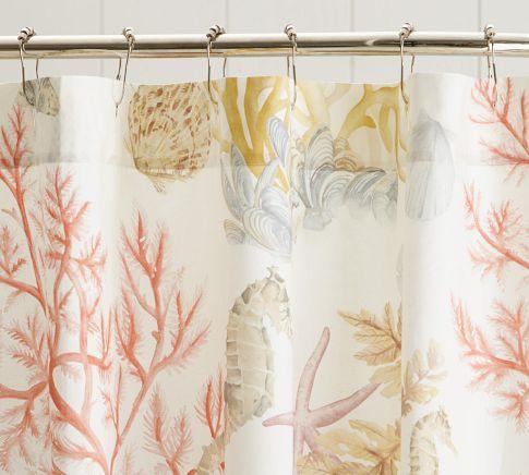 Atlantic Shower Curtain Coastal Shower Curtain Beach Theme
