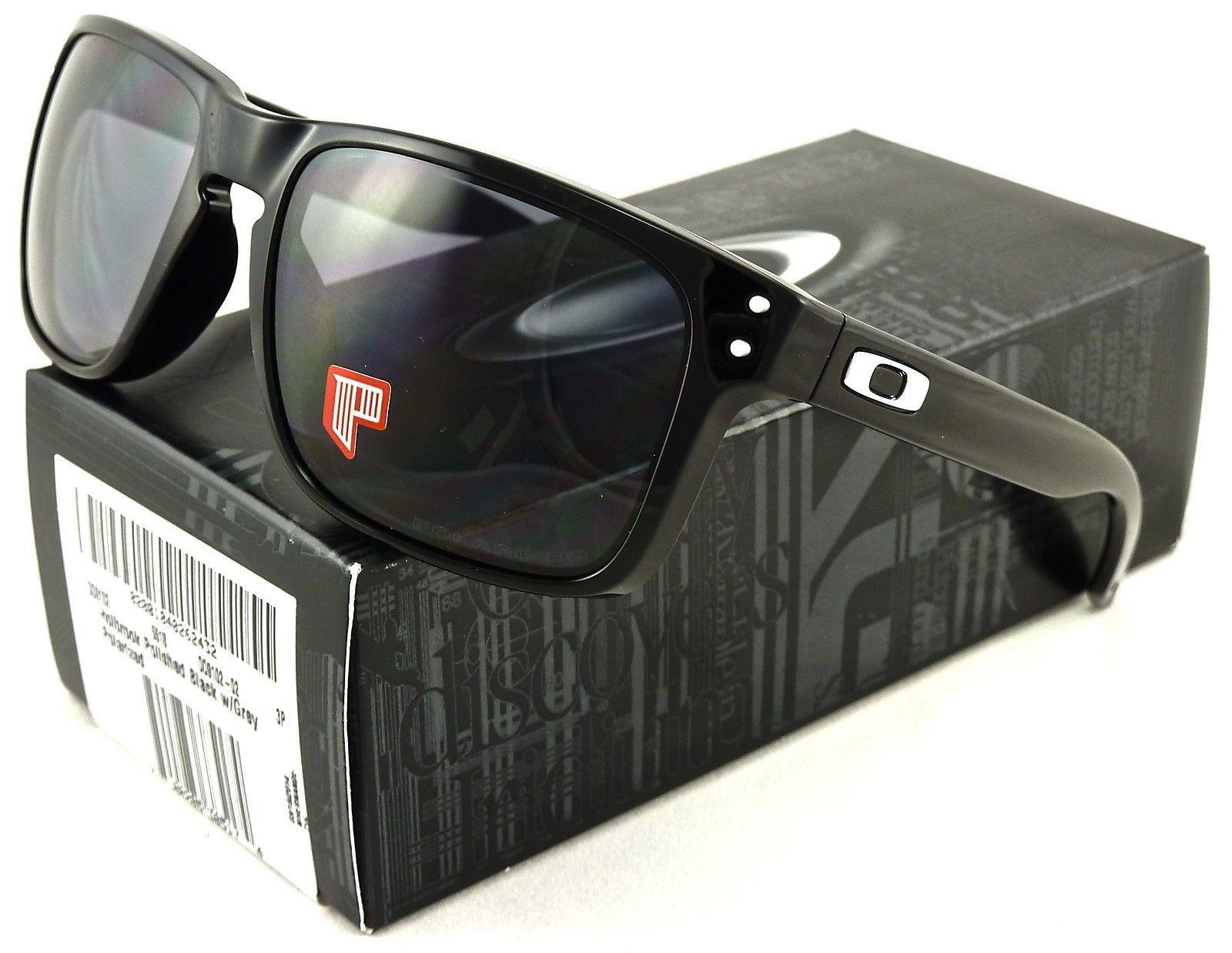 NEW Oakley Holbrook Sunglasses Polished Black l Grey Polarized OO9102-02