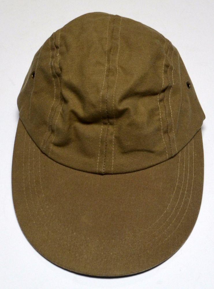 SOLD! Rare FILSON Tin Cloth Long Bill Cap Waxed Cotton Fitted Light Brown  Medium M  Filson  LongBillFishing 9355886a4a54