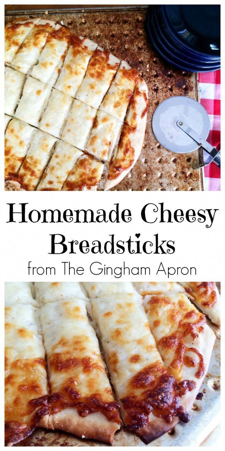 Homemade Cheesy Breadsticks   The Gingham Apron