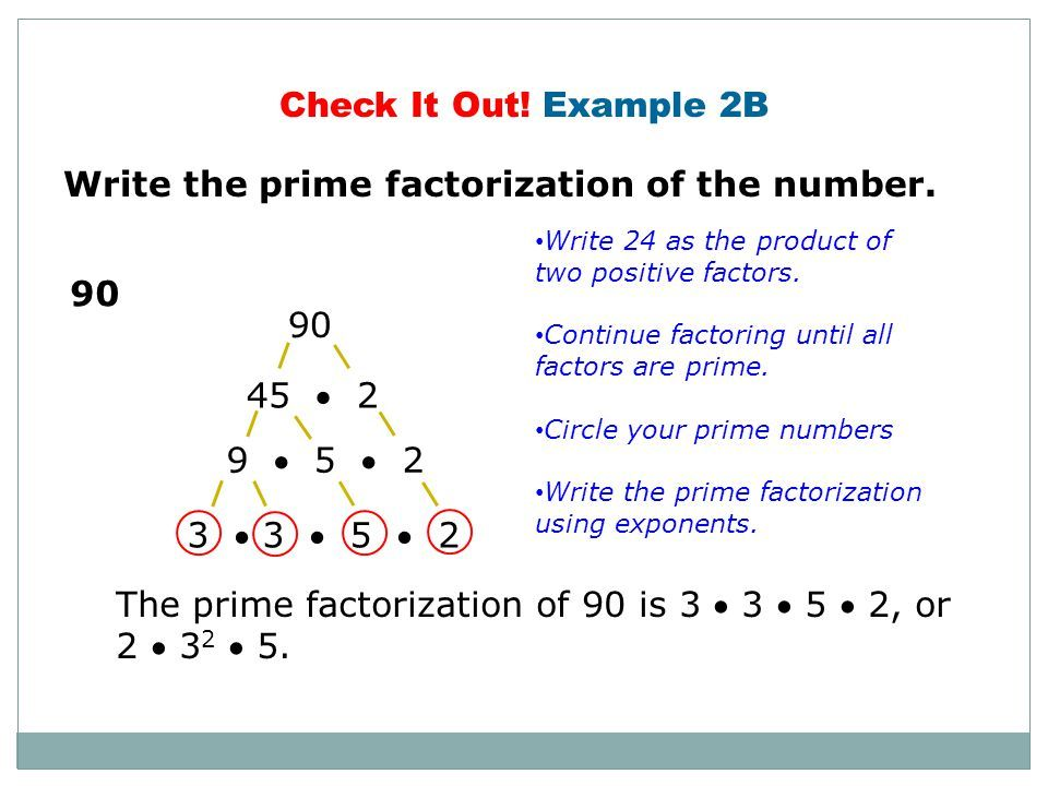 A worked example of prime factorisation which can be used by a ...