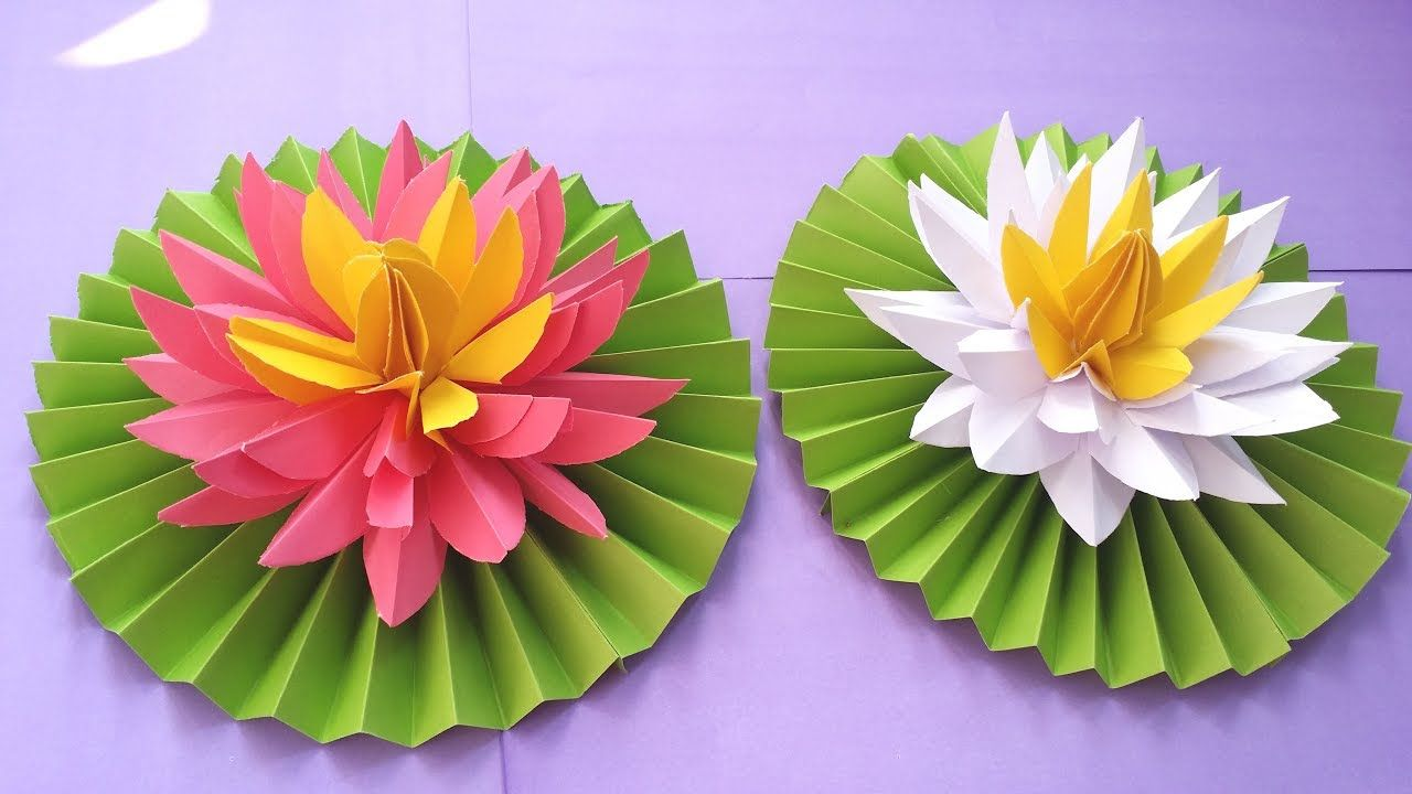 DIY How To Make Most Beautiful Origami Lotus Water Lily With Paper