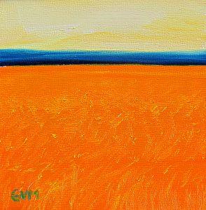 Minimalist #4 by Giselle Vidal McMenamin Oil ~ 5 x 5