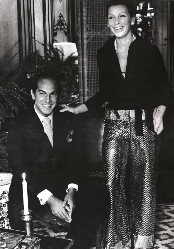 Oscar de la Renta and late wife, Françoise, in their New York City apartment