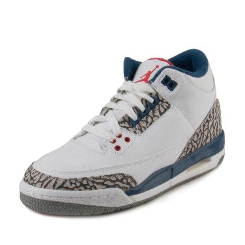 5a116e79277972 Nike Boys Air Jordan 3 Retro OG BG  True Blue  854261-106 Size 6.5Y ...