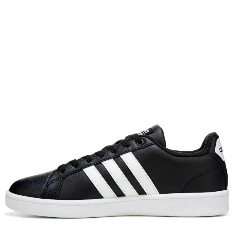 Adidas Men's Neo Cloudfoam Advantage Stripe Sneakers (Black/White ...
