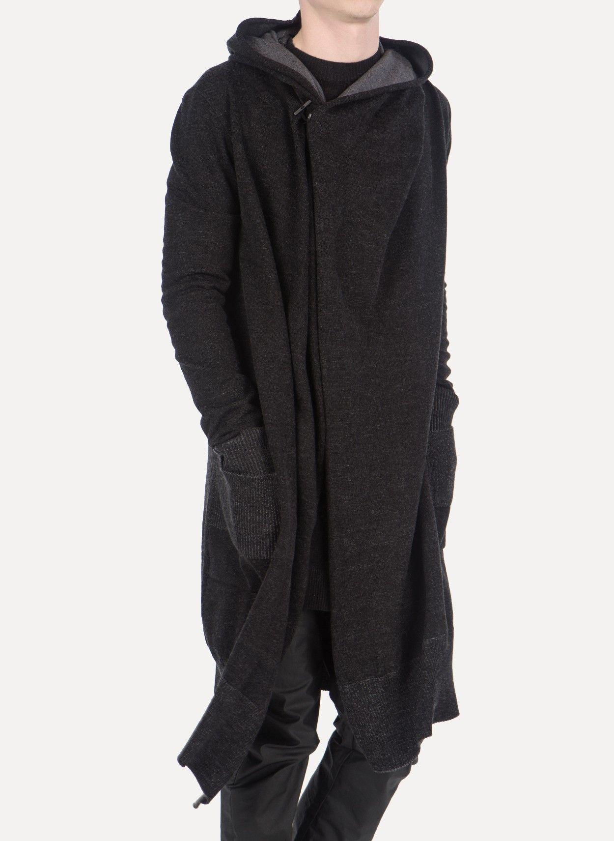 Daniel Andresen - SULA 623 Virgin Wool Long Hooded Cardigan https ...