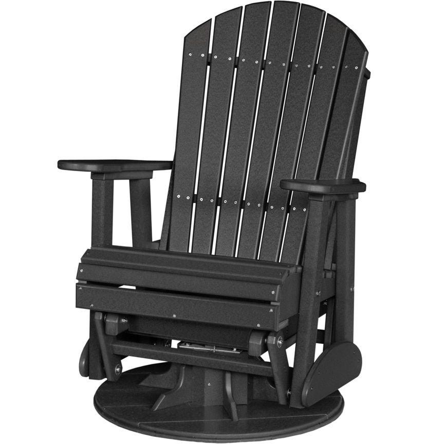 poly outdoor 2 foot adirondack swivel porch glider chair rh pinterest com