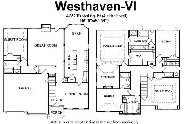 2 Story Open Concept Home Plans With Main Level Guest