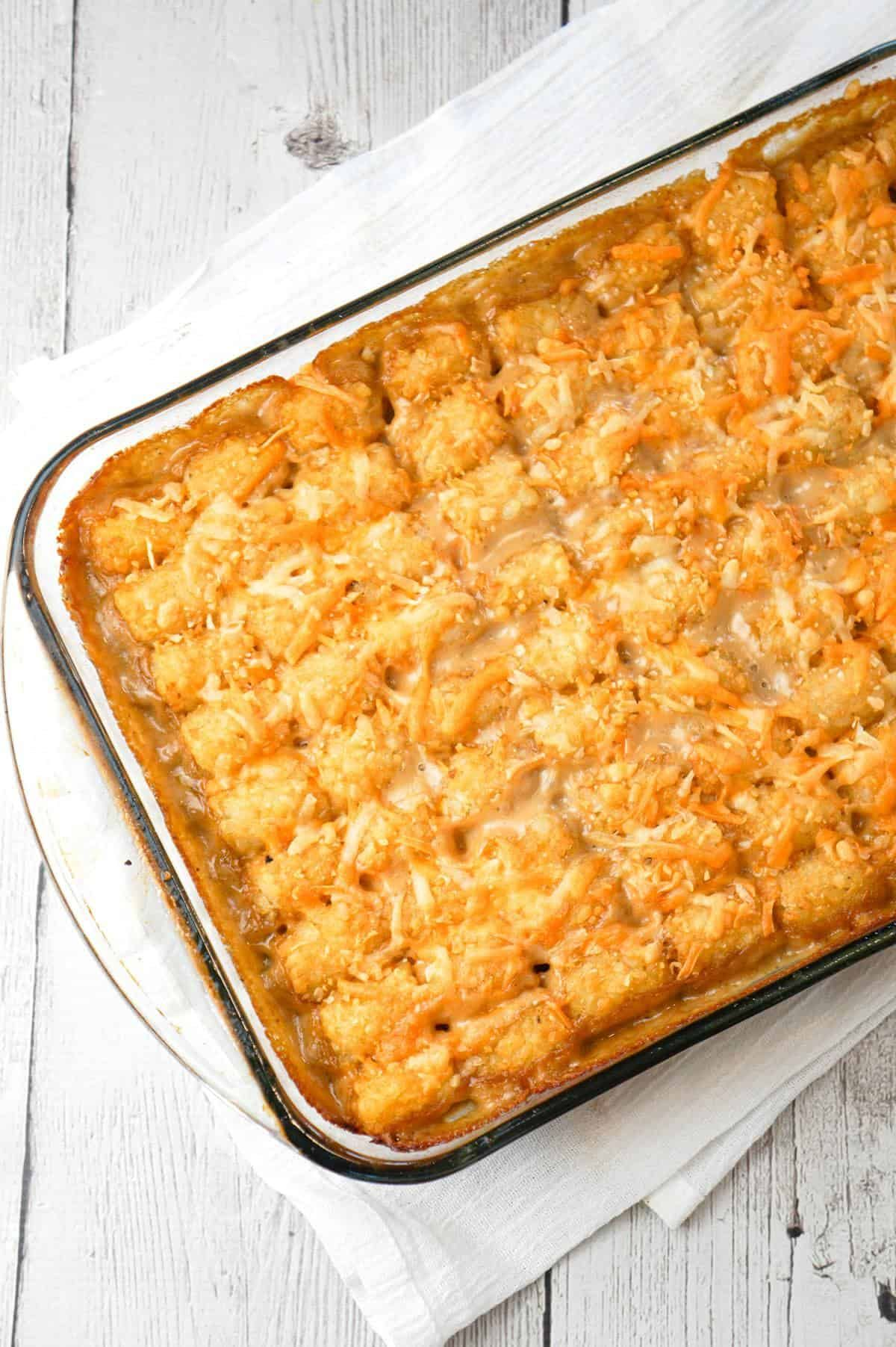 Tater Tot Hotdish is an easy ground beef casserole recipe ...