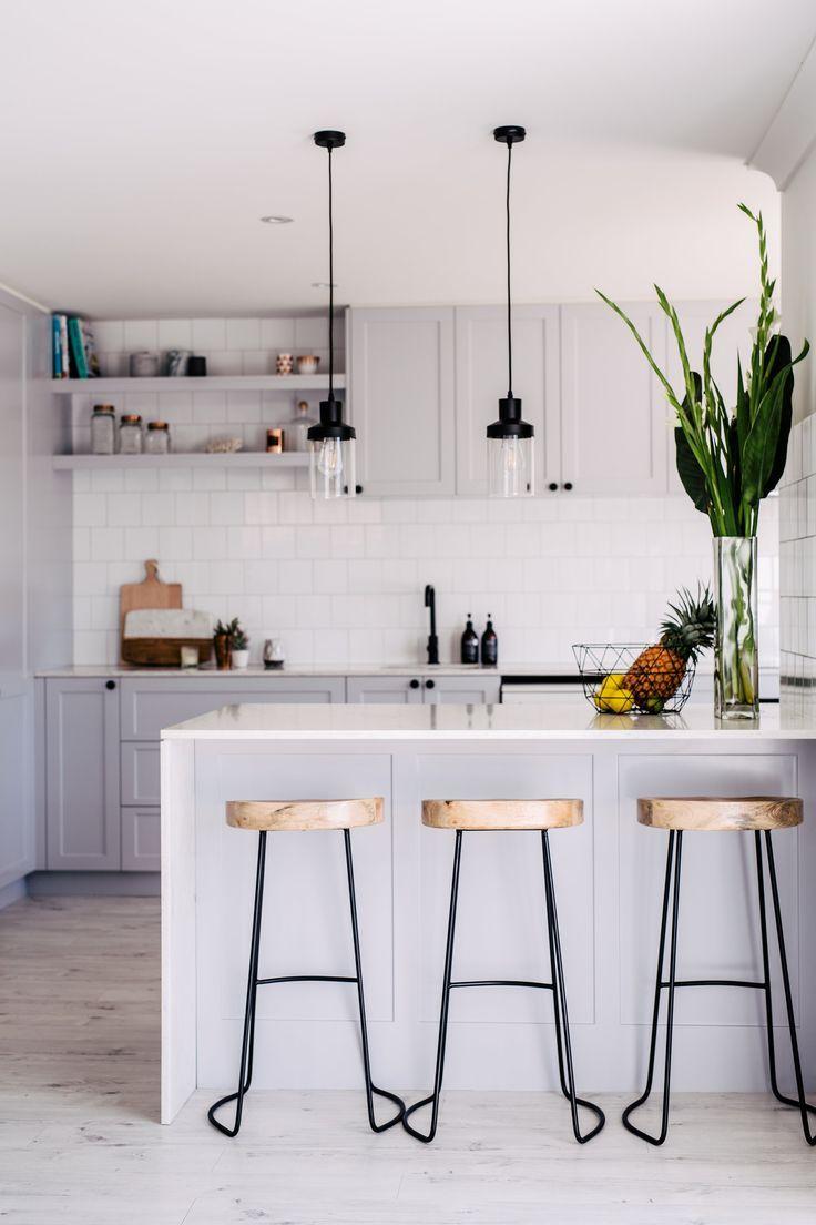 Id id ideas de cocina de los pa ses de bricolaje - Cocinas Grises Cocinas Artesanales Cocina Moderna Gris Iluminaci N De La Cocina Moderna Bellos Interiores De Las Casas Interiores Blancos