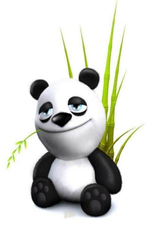 Hd Comic Panda Blackberry Wallpapers