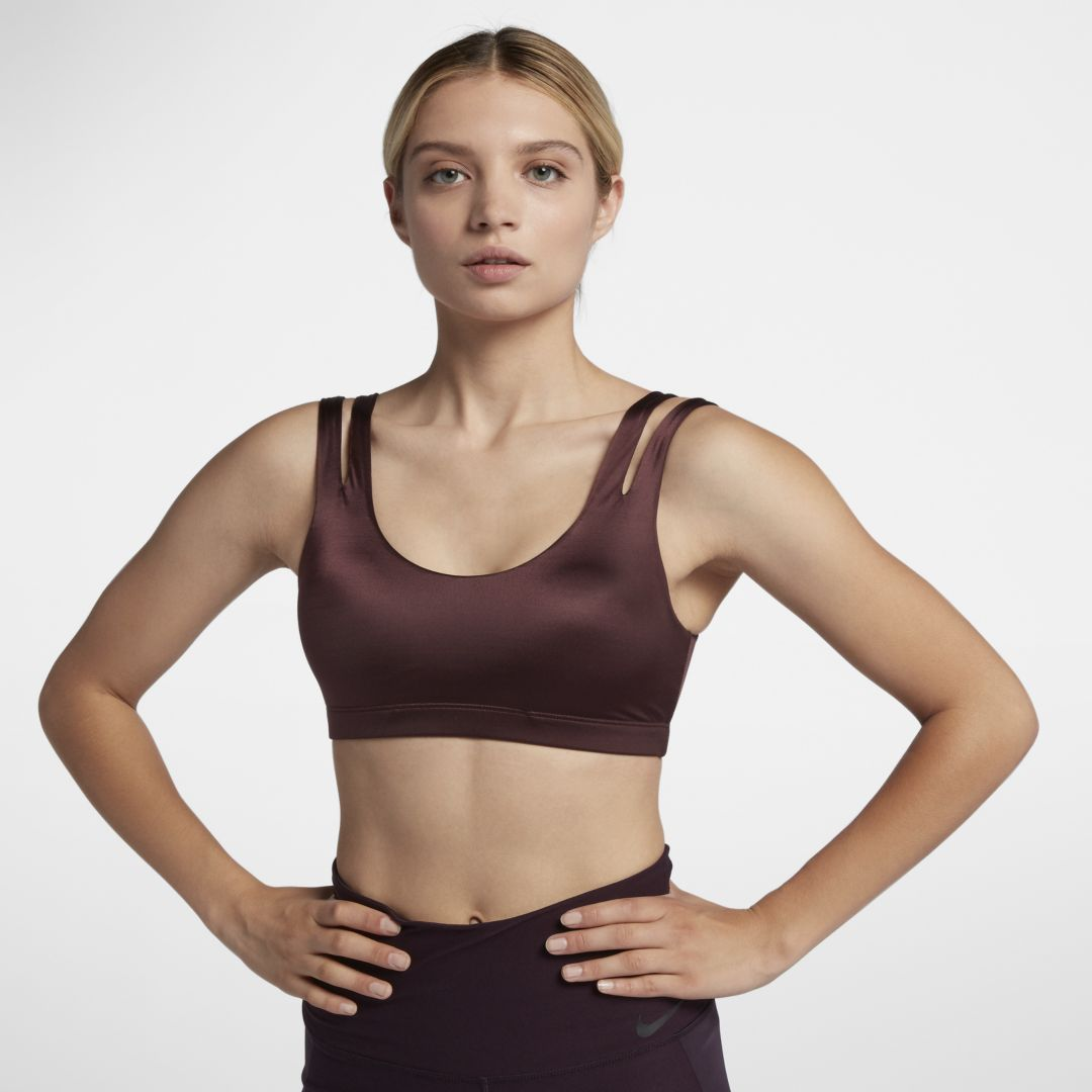 f2b39a19 Nike Indy Shine Women's Light Support Sports Bra Size M (Burgundy ...