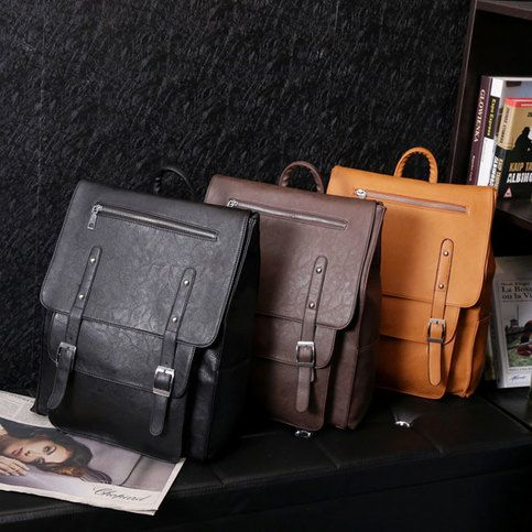 cfcc36e41f5a Vintage College Rucksack Leather Schoolbag British Autumn Backpack ...