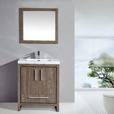 Mtdvanities Miami 30 Single Sink Modern Bathroom Vanity Set With