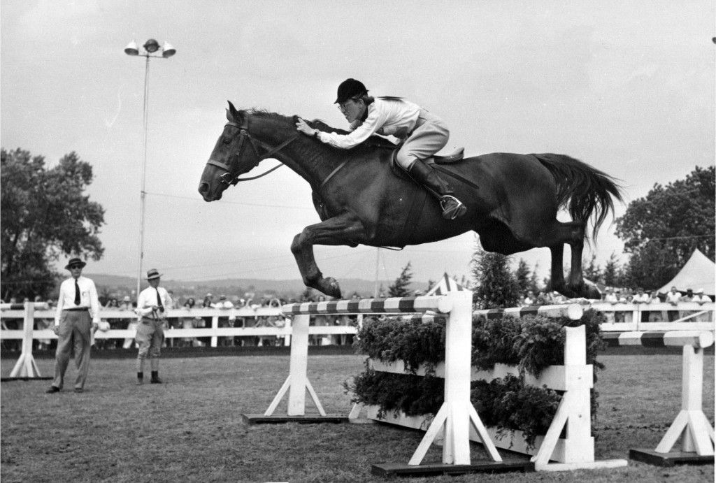 Jane Pohl on Fitzrada, the horse that propelled her to the top of the male-dominated jumper circuit of the 1940s. AMAZING gal & horse...read the book