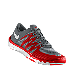 nike mens free trainer 5.0 tb training shoe red png
