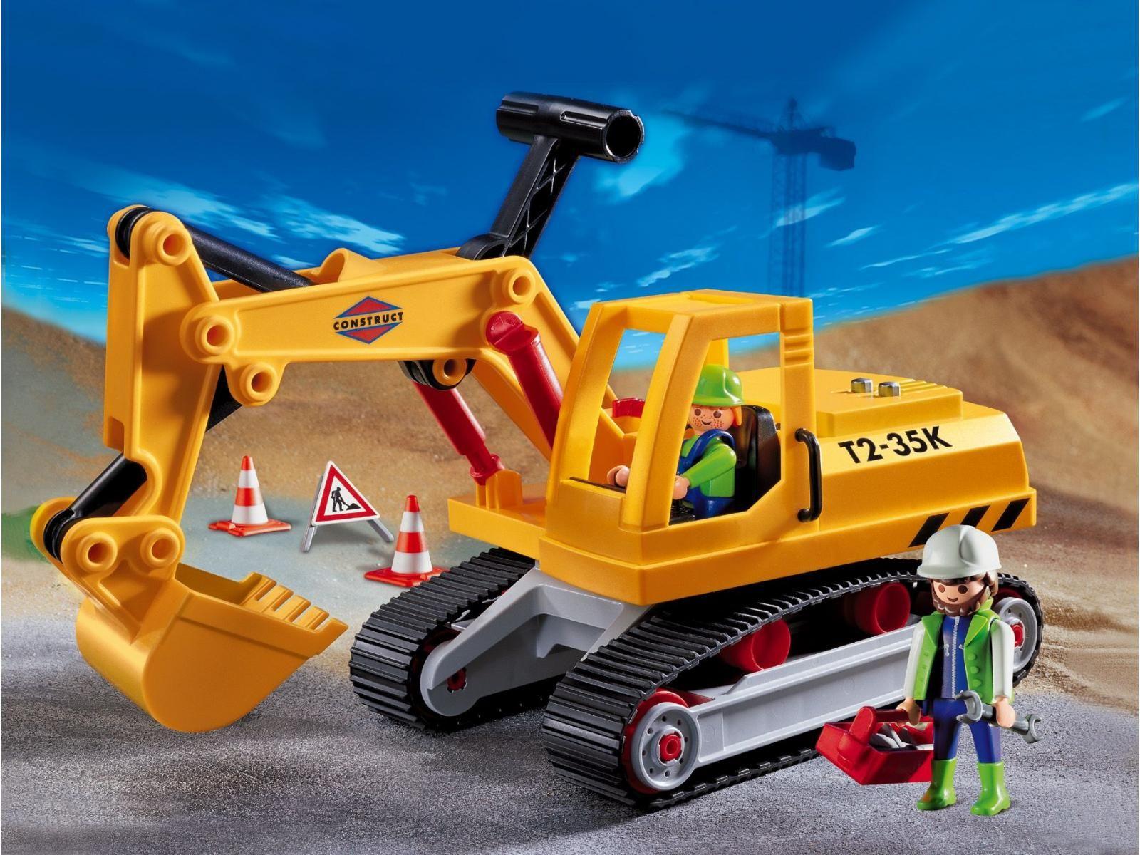 Playmobil 3001 ouvriers avec camion pelleteuse 3001 kids pinterest playmobil - Playmobil camion ...