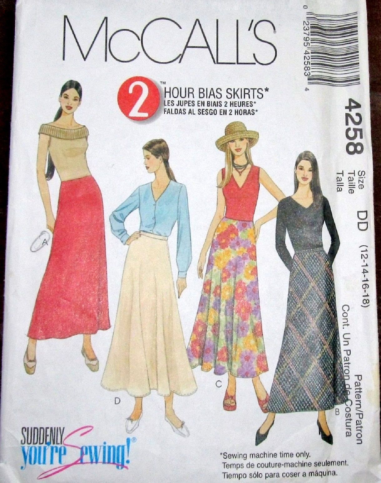 Easy Suddenly You\'re Sewing Pattern McCalls 4258 Two Hour Bias Maxi ...