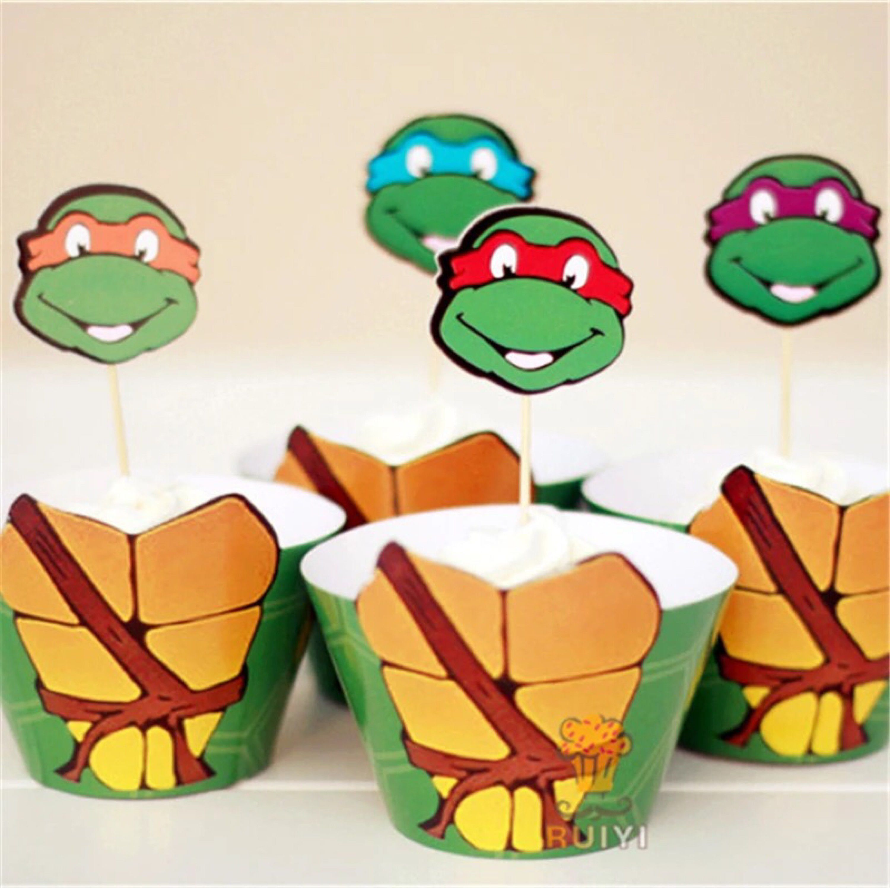 Featured Etsy Products Birthday Party Ideas For Kids Teenage Mutant Ninja Turtle Party Food Ninja Turtle Party Ninja Turtle Cupcakes