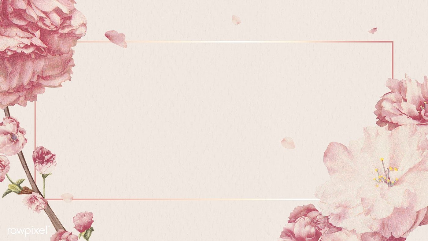 Blank Pink Floral Banner Design Free Image By Rawpixel Com Ployploy In 2020 Floral Banners Vintage Floral Backgrounds Flower Background Wallpaper