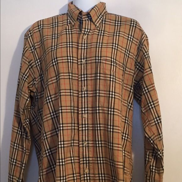 Burberry Shirt Men's Nova check long sleeve button up shirt. In great condition! It's a men's small so I'm able to wear it. Looks great on its own or under sweaters! Burberry Tops Button Down Shirts