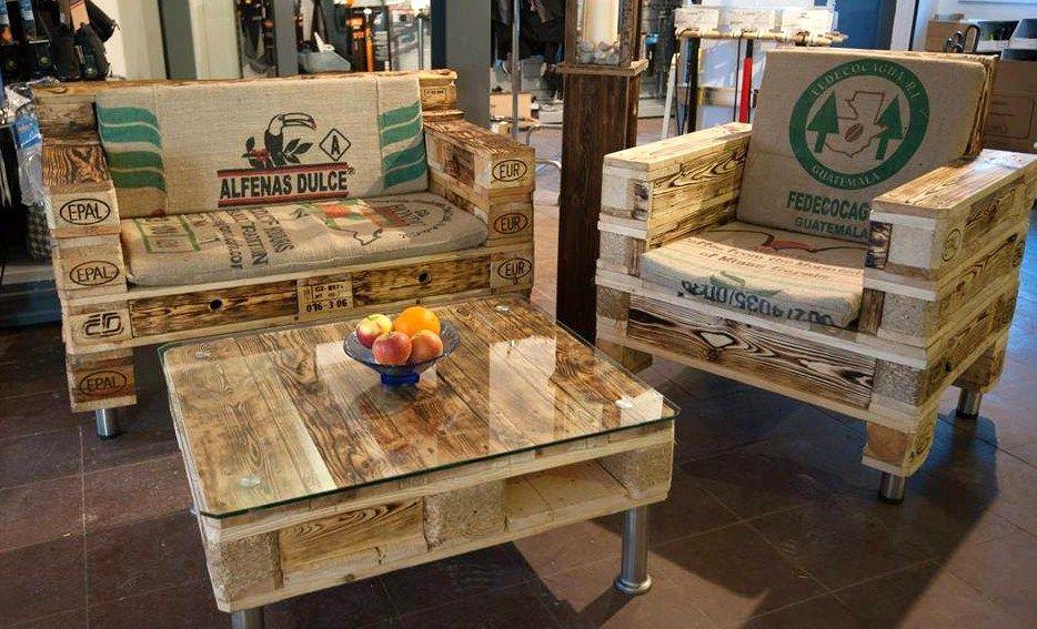 Salons de jardin faits avec des palettes en bois | Pallet | Mobilier ...