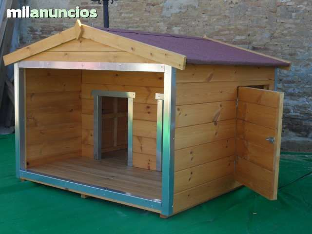 Caseta de madera para 2 perros foto 1 animales - Caseta perro madera ...